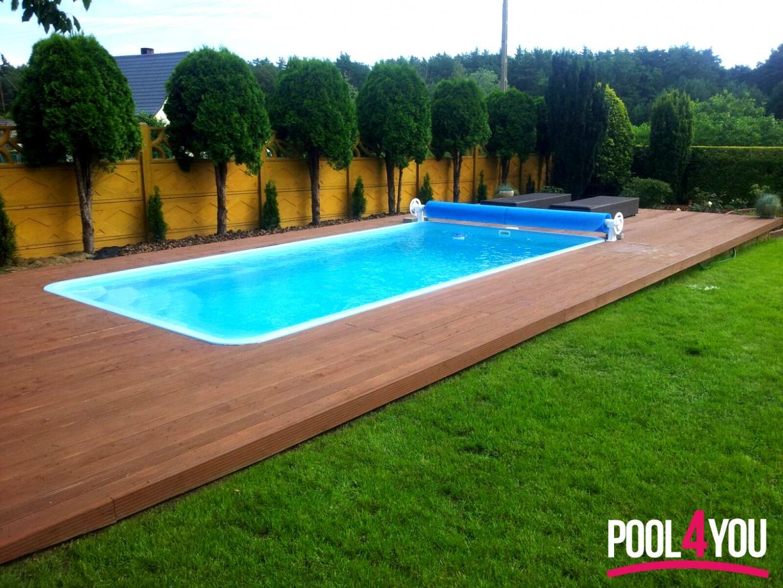 gfk pool schwimmbecken 6,20x3,20x1,55 einbaubecken set+solarfolie